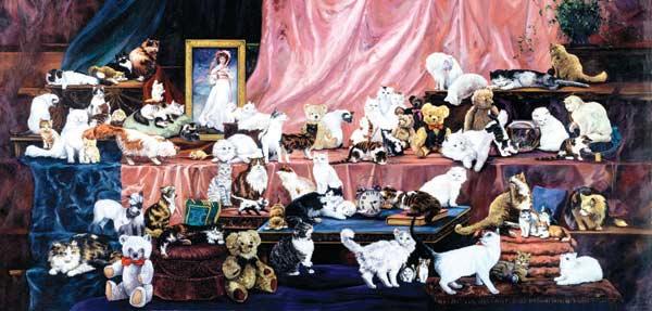 Family Portrait Cats Jigsaw Puzzle