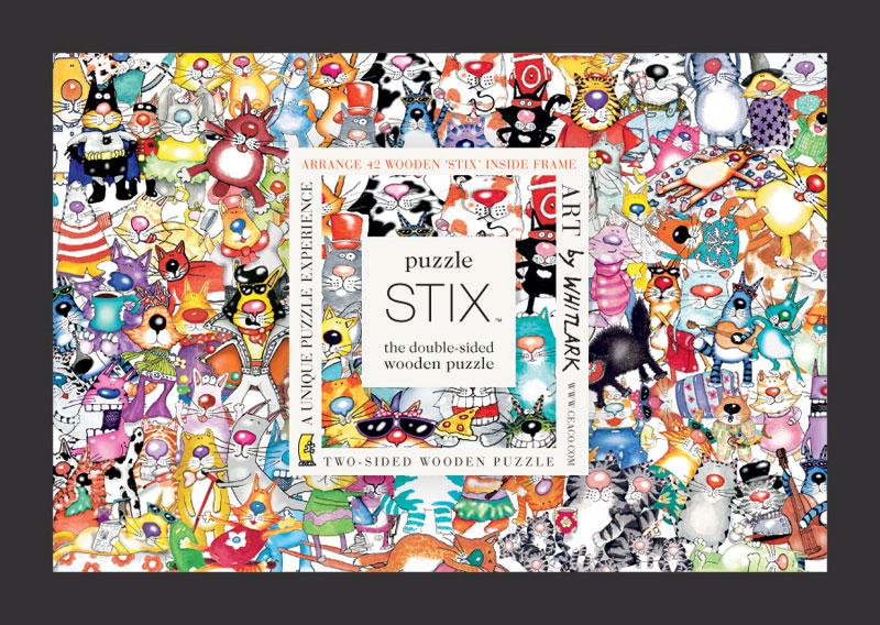 Puzzle Stix - Cats Cats Jigsaw Puzzle