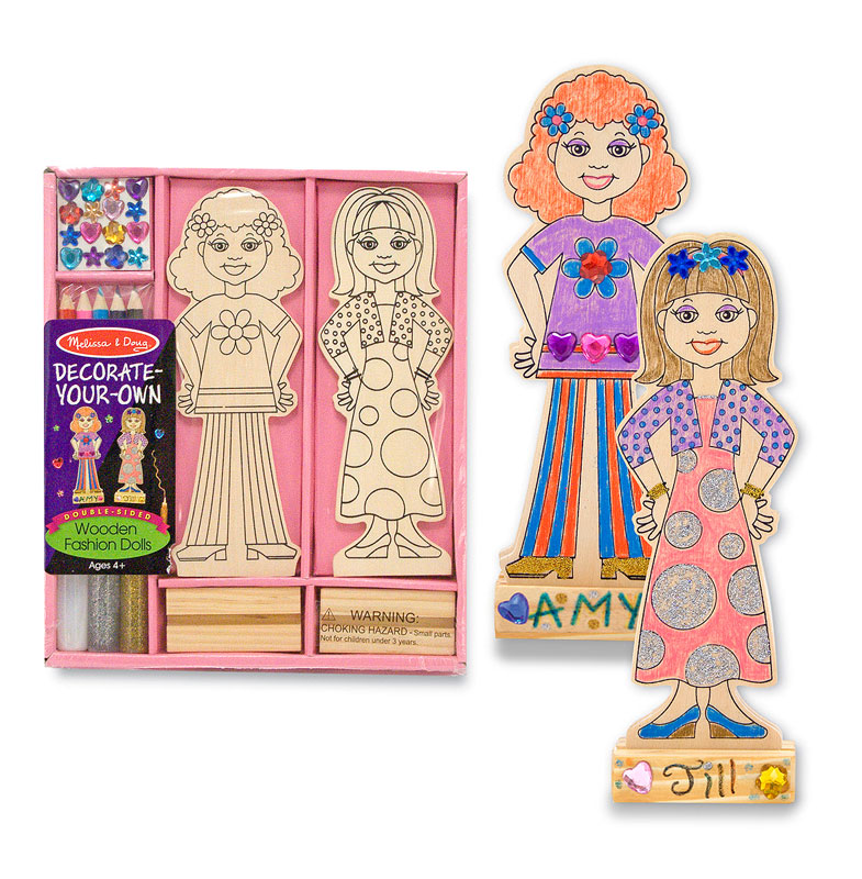 Wooden Fashion Dolls - DYO People Toy
