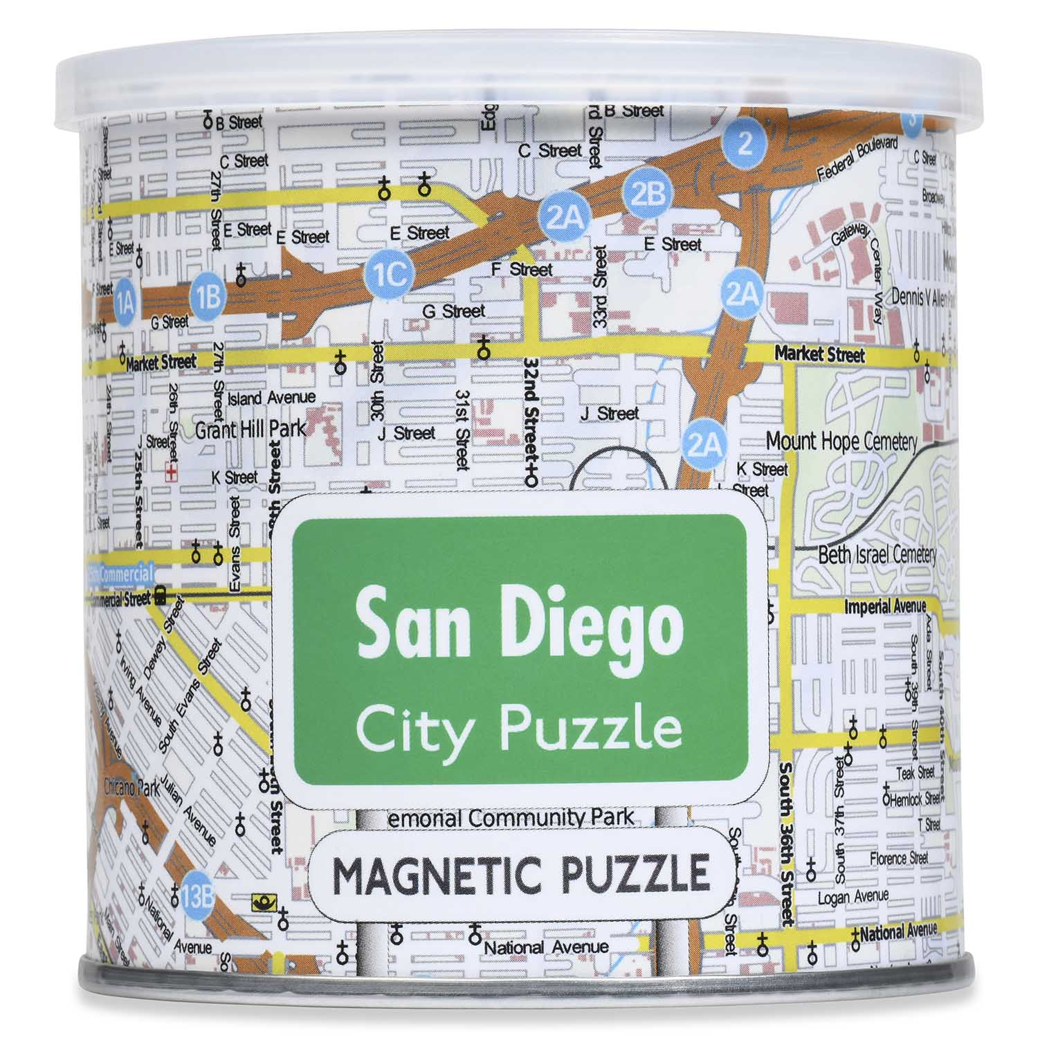 City Magnetic Puzzle San Diego Cities Jigsaw Puzzle