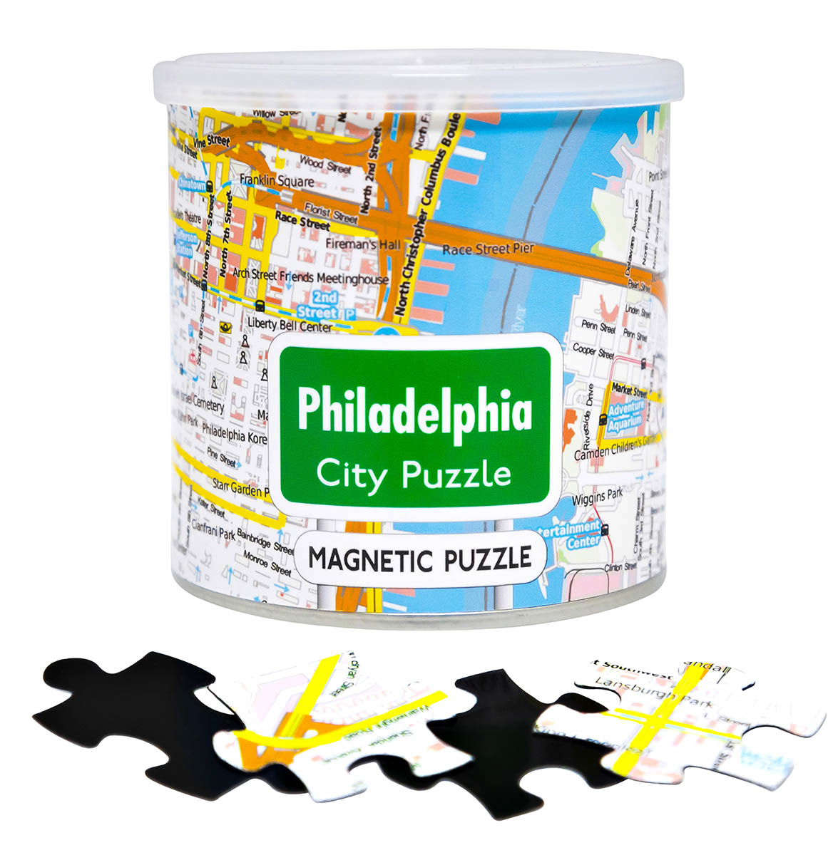 City Magnetic Puzzle Philadelphia Cities Jigsaw Puzzle