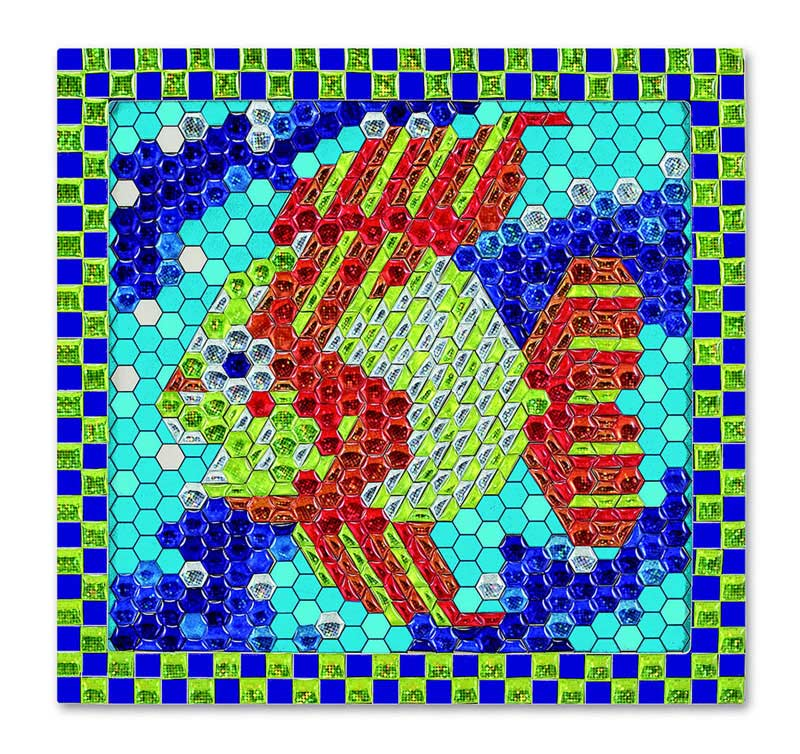 Peel and Press Mosaics - Tropical Fish Under The Sea Glitter / Shimmer / Foil Puzzles