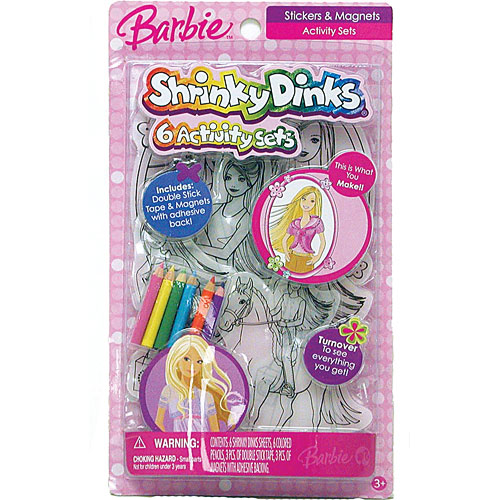 Shrinky Dinks Girl - Barbie Cartoons Arts and Crafts