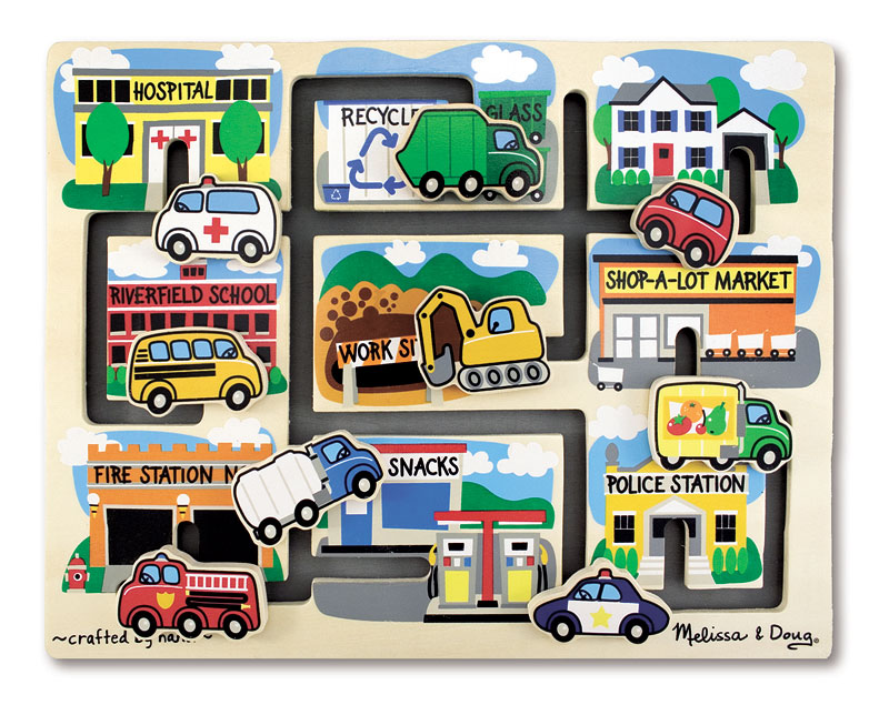 Vehicles Maze Vehicles Wooden Jigsaw Puzzle