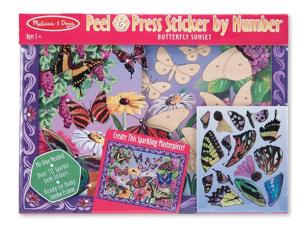 Peel and Press - Butterfly Sunset Butterflies and Insects Activity Books and Stickers