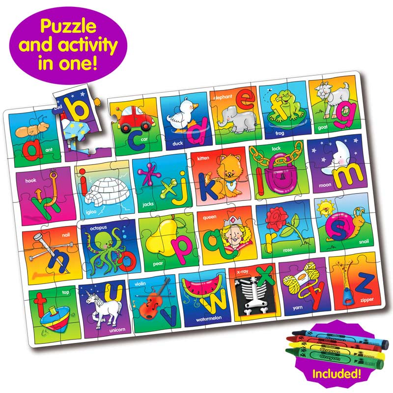 Puzzle Doubles Let's Learn the Alphabet Educational Floor Puzzle