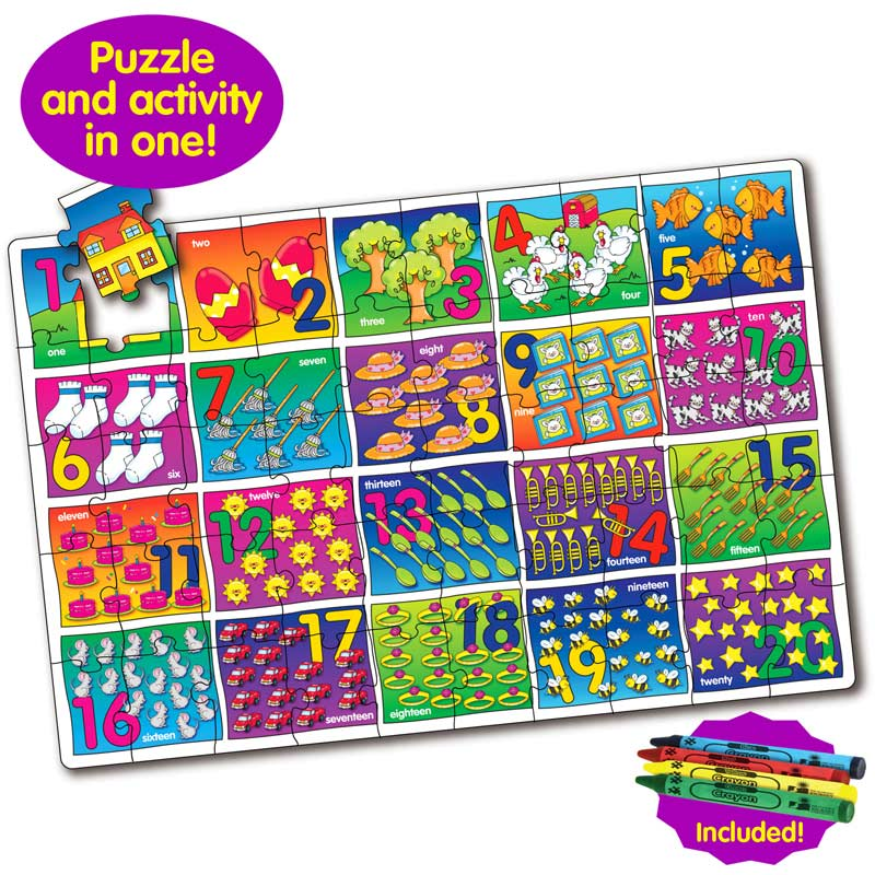 Puzzle Doubles Let's Learn Numbers Educational Floor Puzzle