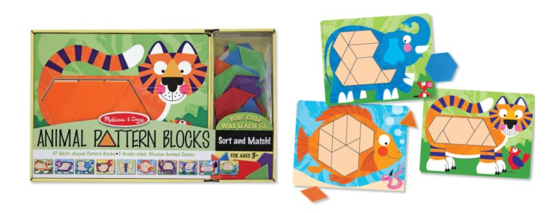 Animal Pattern Blocks Educational Toy
