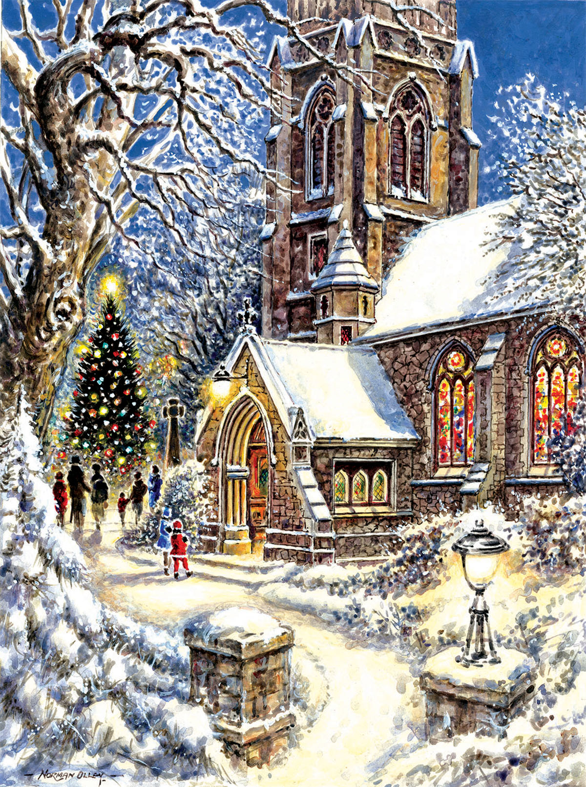 Church in the Snow Winter Jigsaw Puzzle