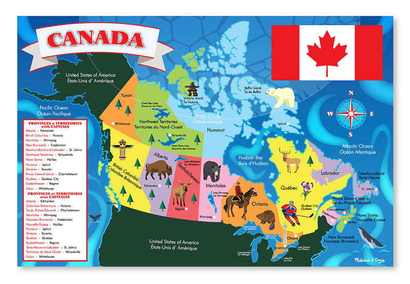 canada map children s puzzles puzzlewarehouse