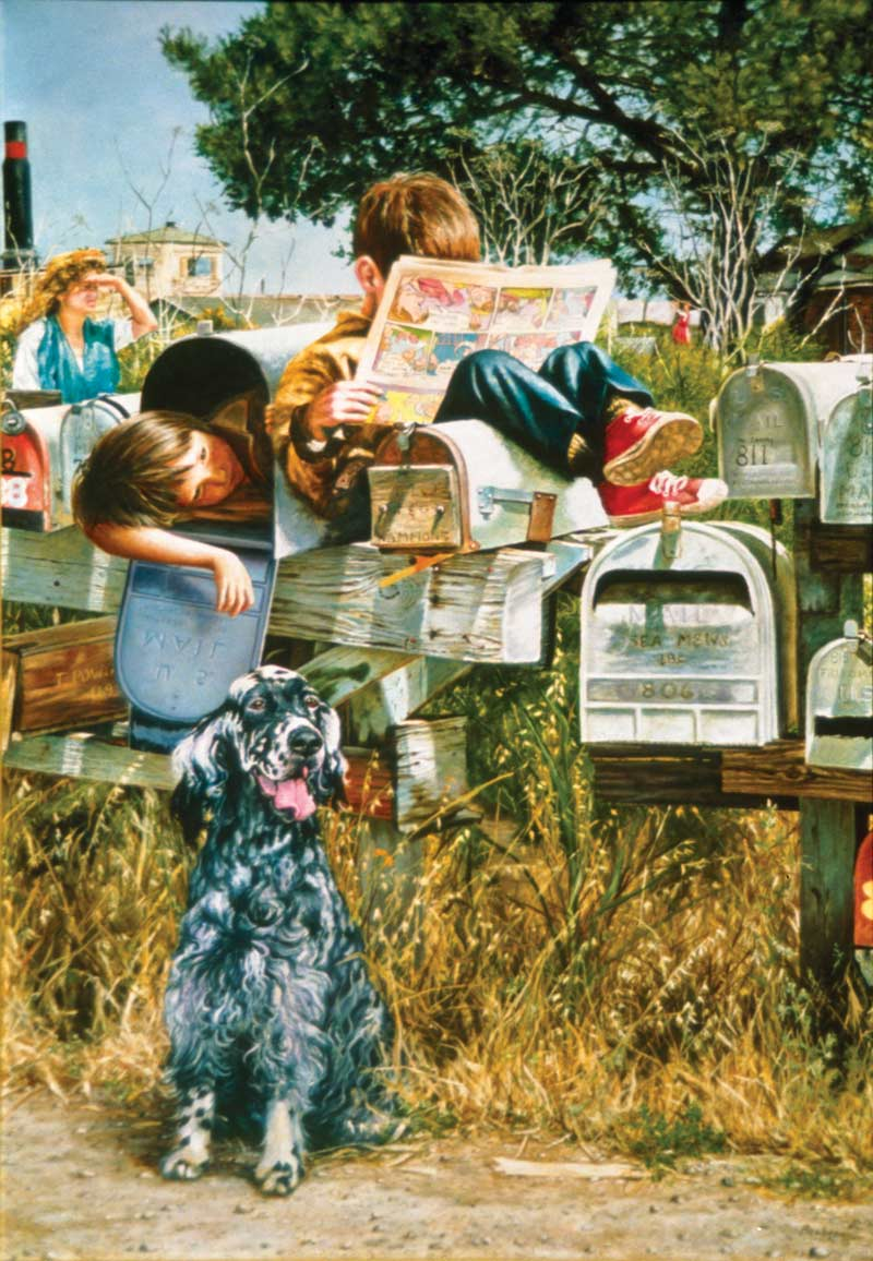 Waiting for the Mailman Dogs Jigsaw Puzzle