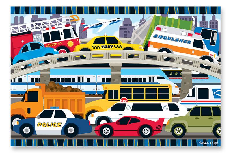 Traffic Jam Vehicles Jigsaw Puzzle