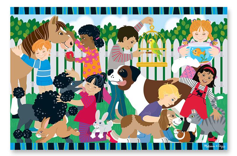 Backyard Pets - Floor Other Animals Floor Puzzle