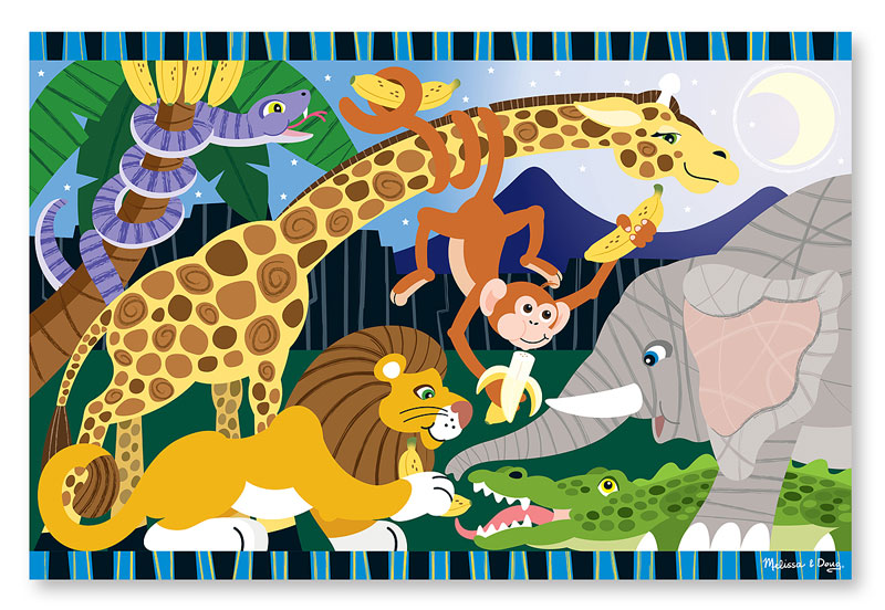 Safari Social - Floor Jungle Animals Children's Puzzles