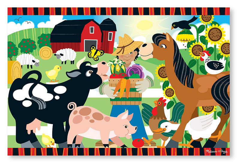 Happy Harvest Farm - Floor Farm Animals Floor Puzzle