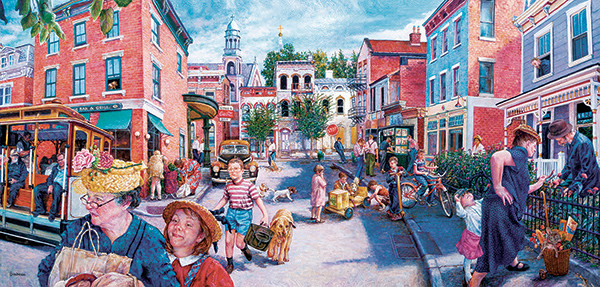 City Streets - Scratch and Dent Street Scene Jigsaw Puzzle