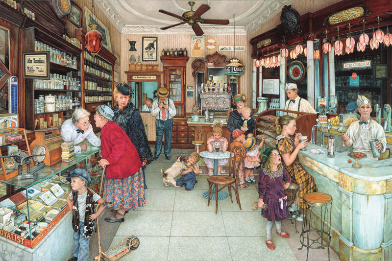 Soda Fountain Food and Drink Jigsaw Puzzle