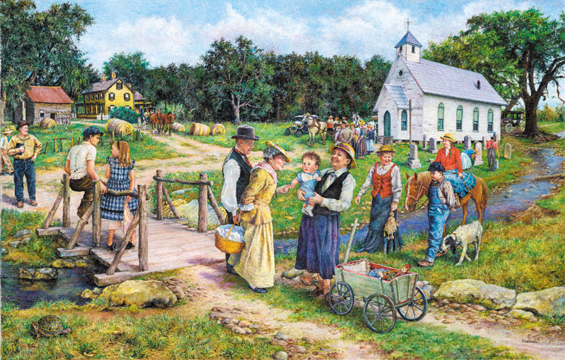 The Country Church Jigsaw Puzzle