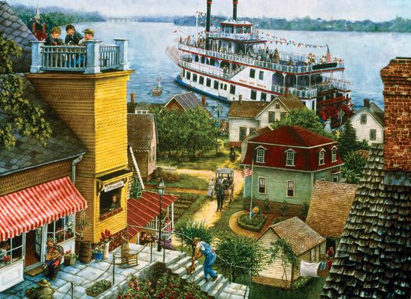 Paddle Boat Landing Boats Jigsaw Puzzle