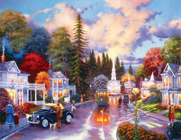 Simpler Times Americana Jigsaw Puzzle