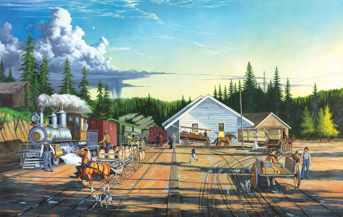 End of the Line Trains Jigsaw Puzzle