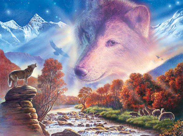 Wolf Rock Wolves Jigsaw Puzzle