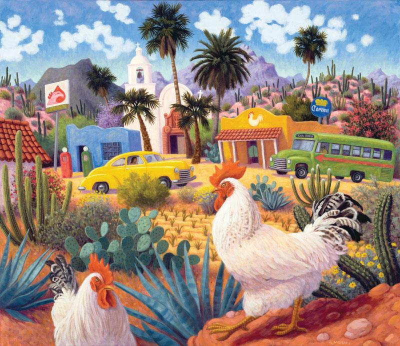 Gallos Blancos Cars Jigsaw Puzzle