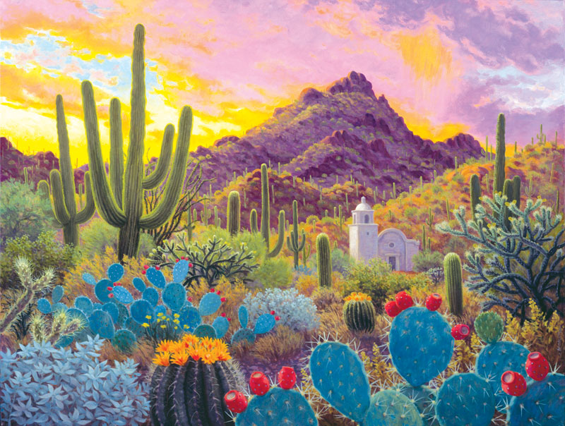 August Evening Mountains Jigsaw Puzzle