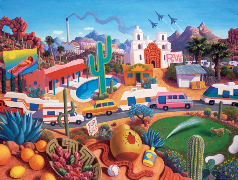 The Land of Az Vehicles Jigsaw Puzzle