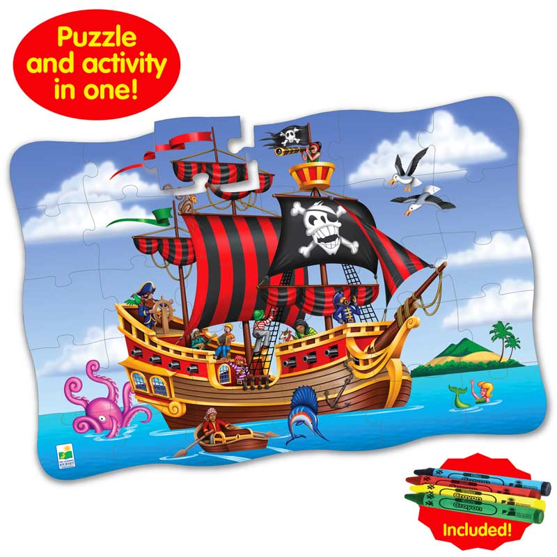 Puzzle Doubles Giant Pirate Adventure Fantasy Floor Puzzle