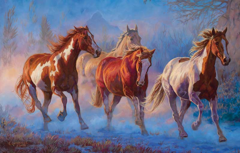 Twilight Horses Jigsaw Puzzle