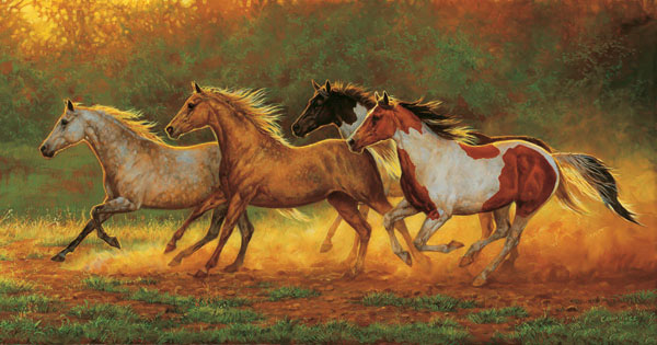 Gold Dust Horses Jigsaw Puzzle