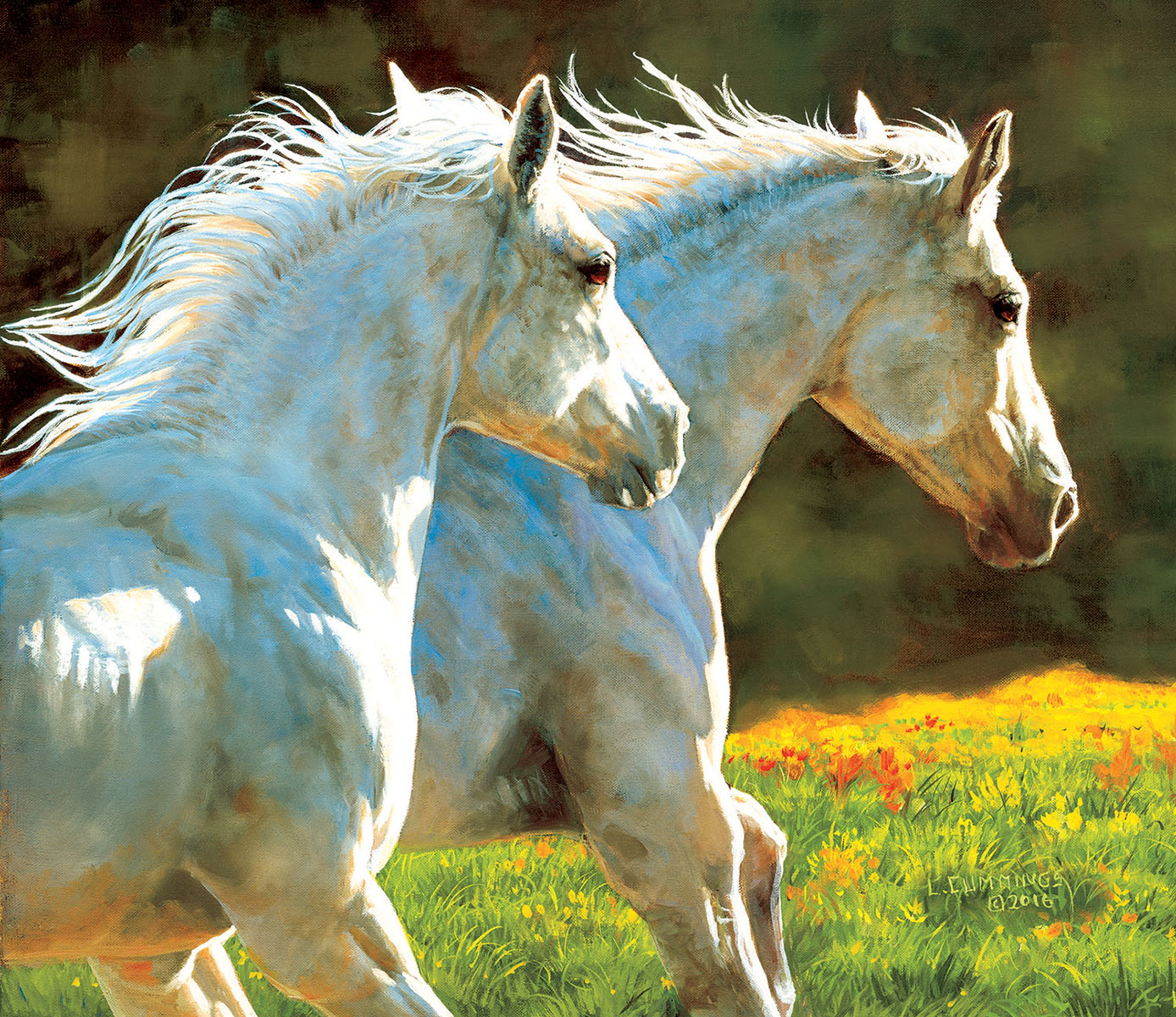 The Chase Horses Jigsaw Puzzle
