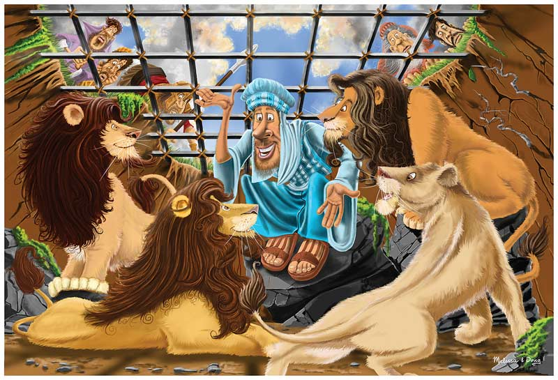 Daniel and the Lion's Den - Floor Puzzle Cartoons Children's Puzzles