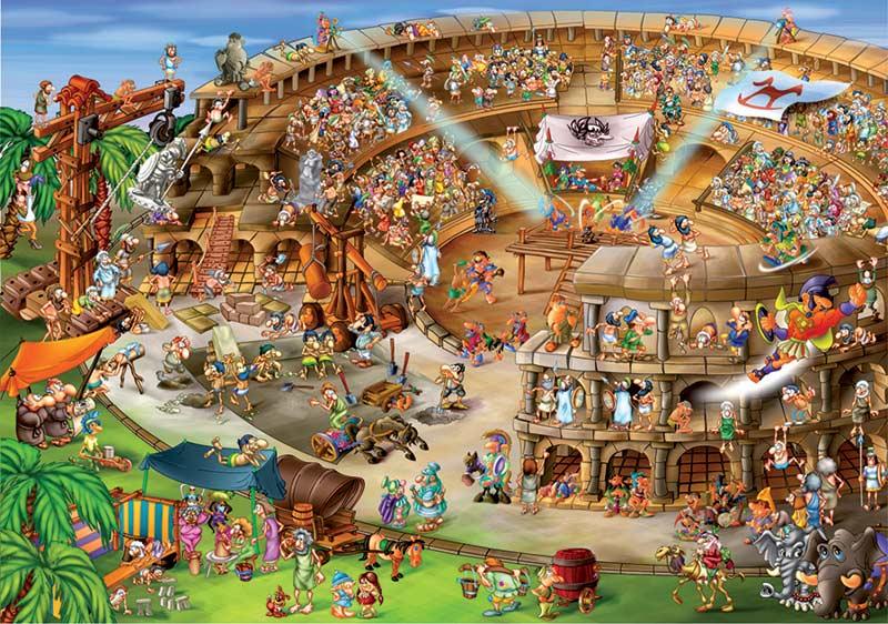 Roman Amphitheatre Cartoon Collection Jigsaw Puzzle