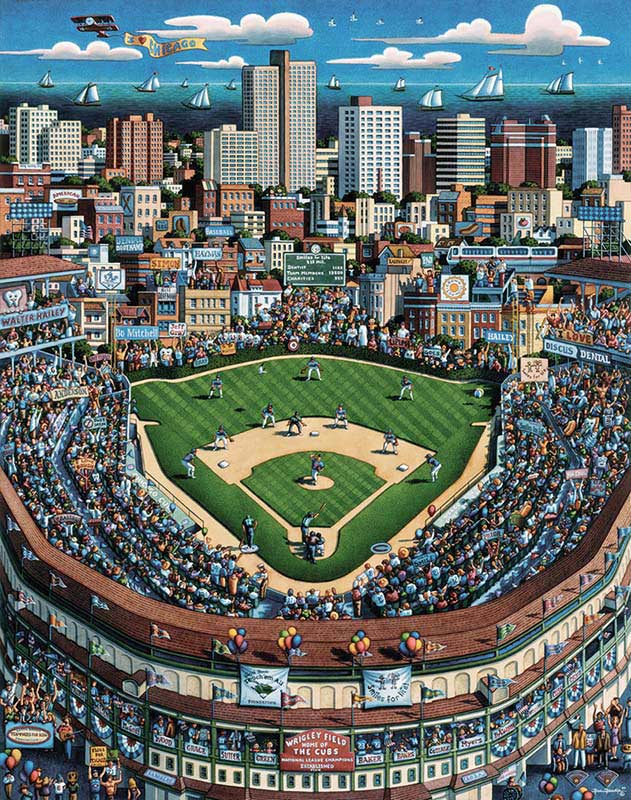 Chicago Wrigley Field, Luggage Edition Chicago Jigsaw Puzzle