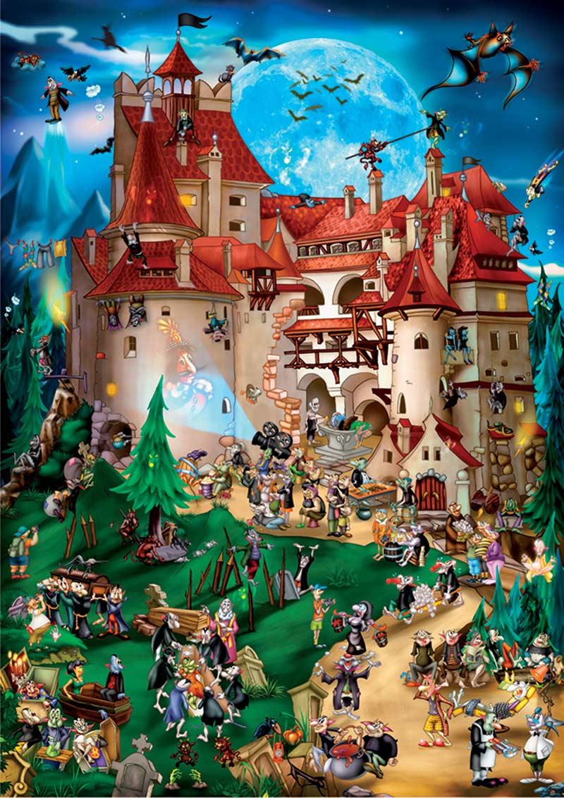 Transylvania Cartoons Jigsaw Puzzle