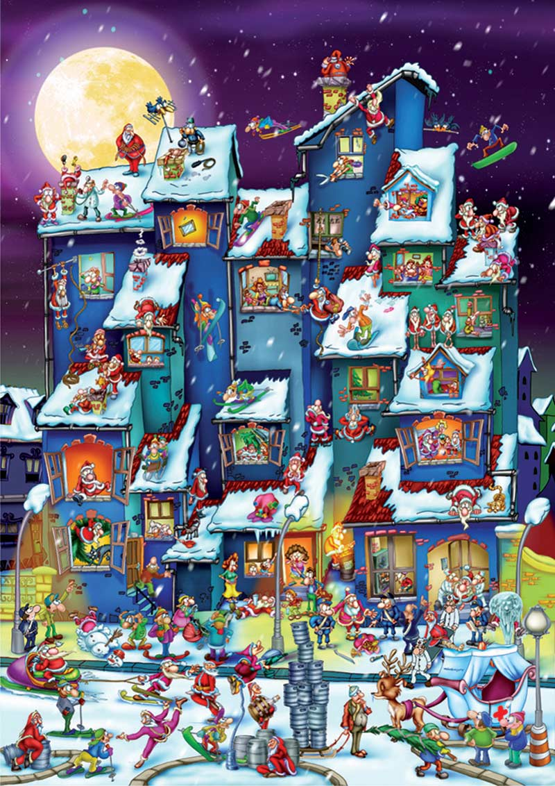 Christmas Antics Winter Jigsaw Puzzle