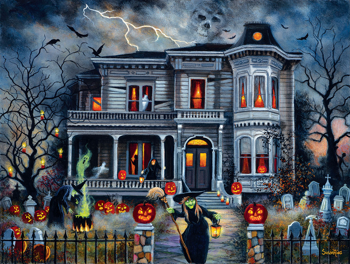 Witching Hour Halloween Jigsaw Puzzle