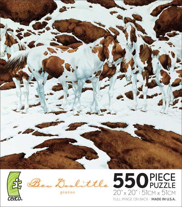 Bev Doolittle Pintos Jigsaw Puzzle Puzzlewarehouse Com