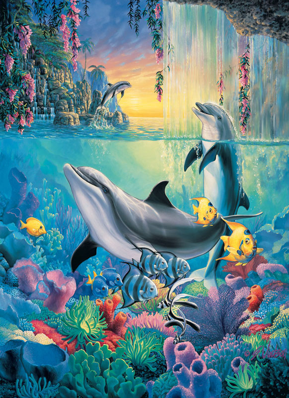 Dolphin Falls Dolphins Jigsaw Puzzle