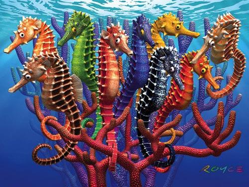 Seahorses Marine Life Jigsaw Puzzle