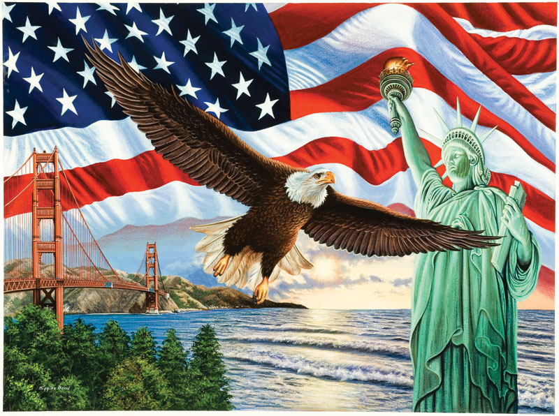 From Sea to Shining Sea Patriotic Jigsaw Puzzle