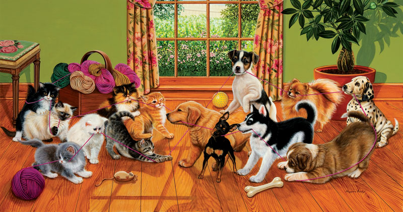 Tug of War Dogs Jigsaw Puzzle