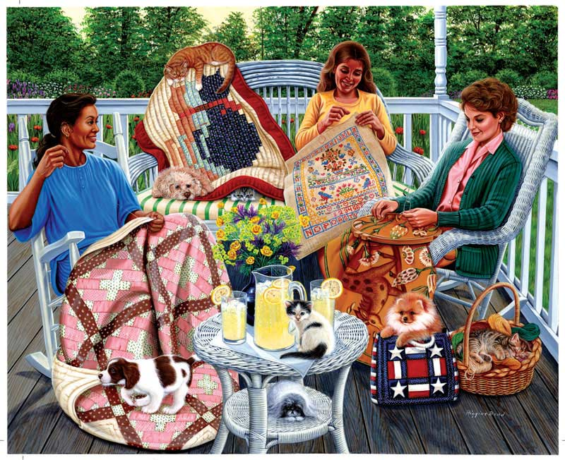Sewing Circle Quilting & Crafts Jigsaw Puzzle