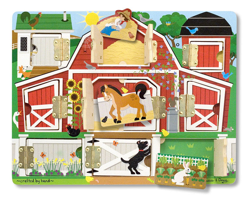 Magnetic Farm Hide & Seek Farm Animals Children's Puzzles