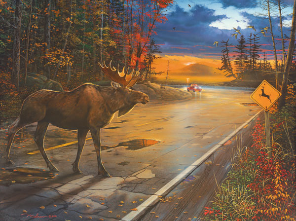 Crossing Sunrise/Sunset Jigsaw Puzzle
