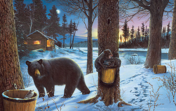 Midnight Snack Bears Jigsaw Puzzle
