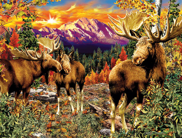 Mountain Glade Mountains Jigsaw Puzzle