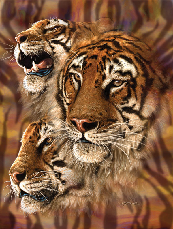 Tiger Stripes Cats Jigsaw Puzzle